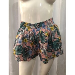 Lucca Couture Pink Floral Shorts